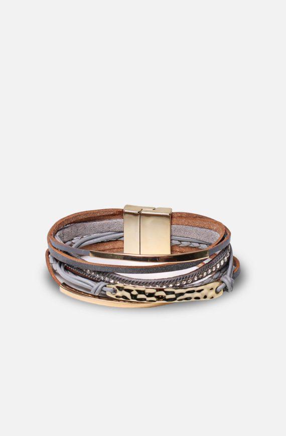 labelrose – bra00001 bracciale karina 9,95 grigio