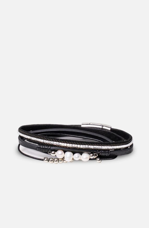 labelrose – bra00009 bracciale jovinta 9,95 nero