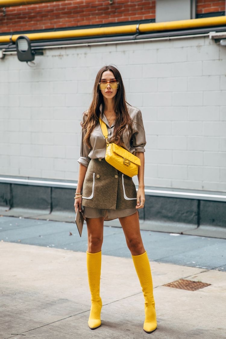 5 ideas to style a yellow bag